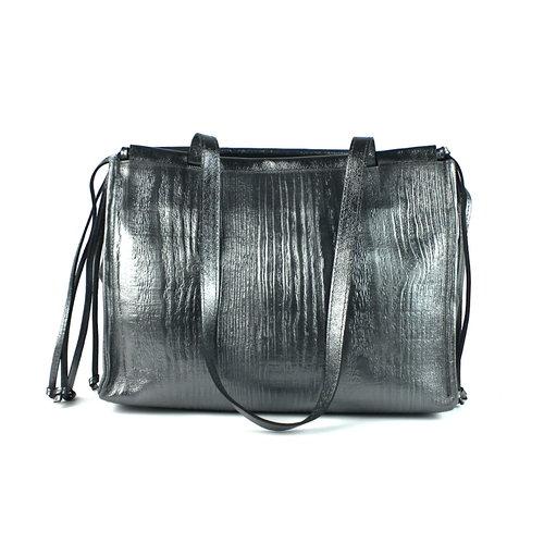 Metallic zilveren schoudertas