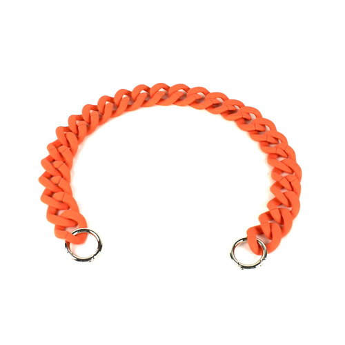 Acryl ketting 60 cm mat oranje