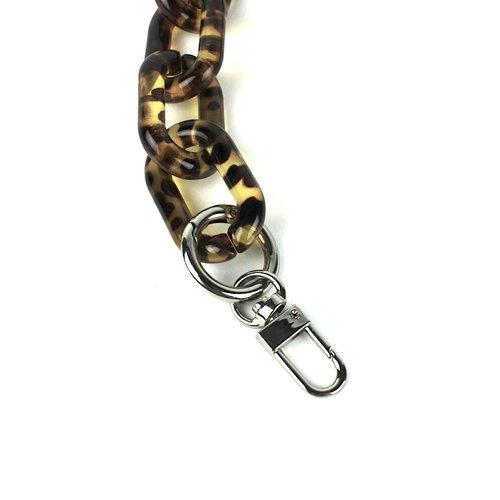 Acryl tasketting luipaard 56cm