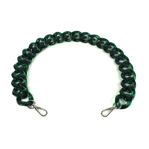Acryl ketting 60 cm, luipaard groen