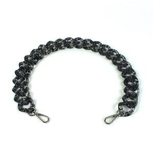 Acryl ketting 60 cm, luipaard zwart