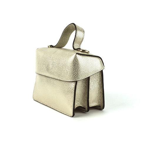 Leren koffertasje goud