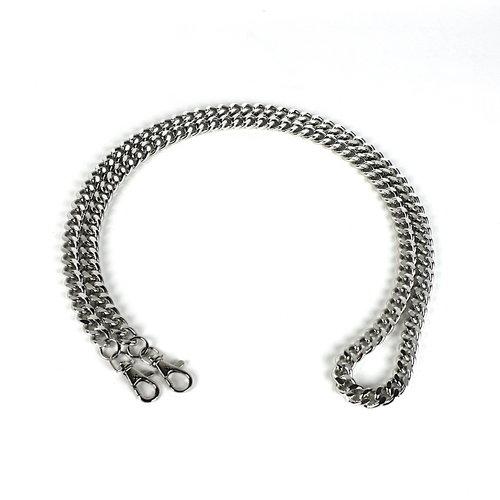 Zilverkleurige schouderketting - tasketting