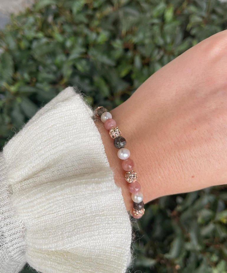 Karma Karma Spiral Armband - Rose meerkleurig