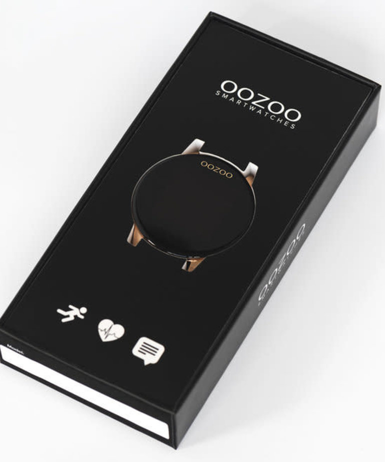 Oozoo Timepieces Oozoo Smartwatch Q118 Zwart Rosé Goud