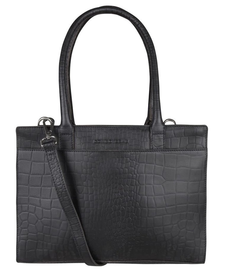 Cowboysbag Cowboysbag, Laptoptas Jade, Croco Black