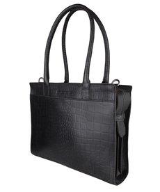 Cowboysbag Laptoptas Jade Croco Black