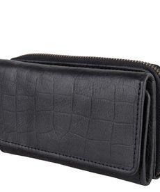 Cowboysbag Purse Garnet Croco Black