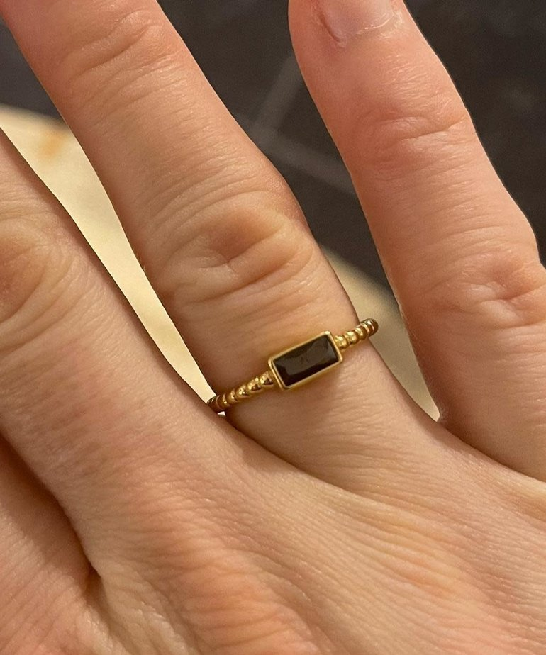 ByJam ByJam Ring Diamant Zwart Steentje