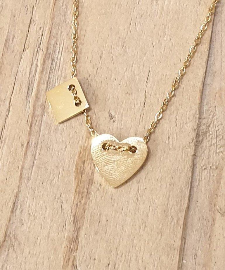 Zag Bijoux Zag Ketting Gouden Hart