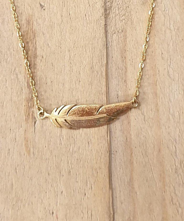 Zag Bijoux Zag Ketting Gouden Veer