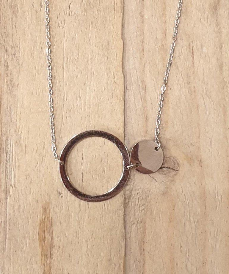 Zag Bijoux Zag Ketting Oog Ring Zilver