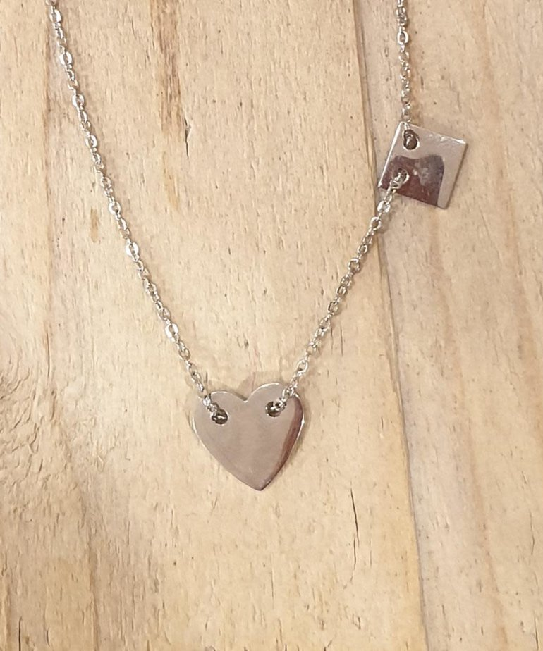 Zag Bijoux Zag Ketting Zilveren Hart