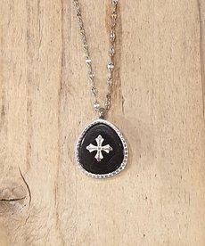 Zag Bijoux Zag Ketting Zilver Medaillon met Onyx steen