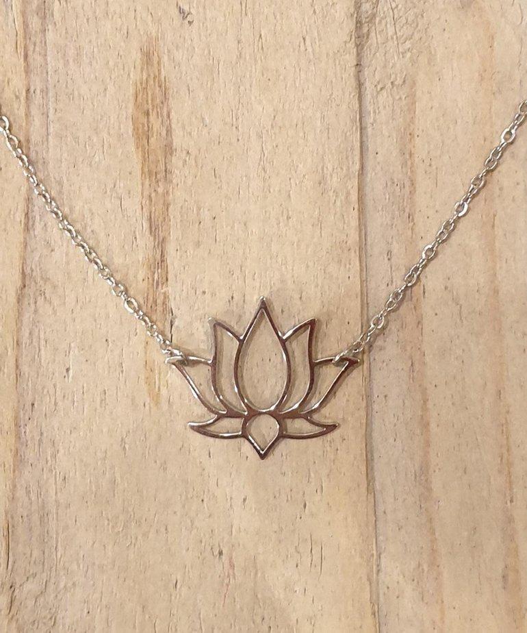 Zag Bijoux Zag Ketting Zilveren Lotus Bloem