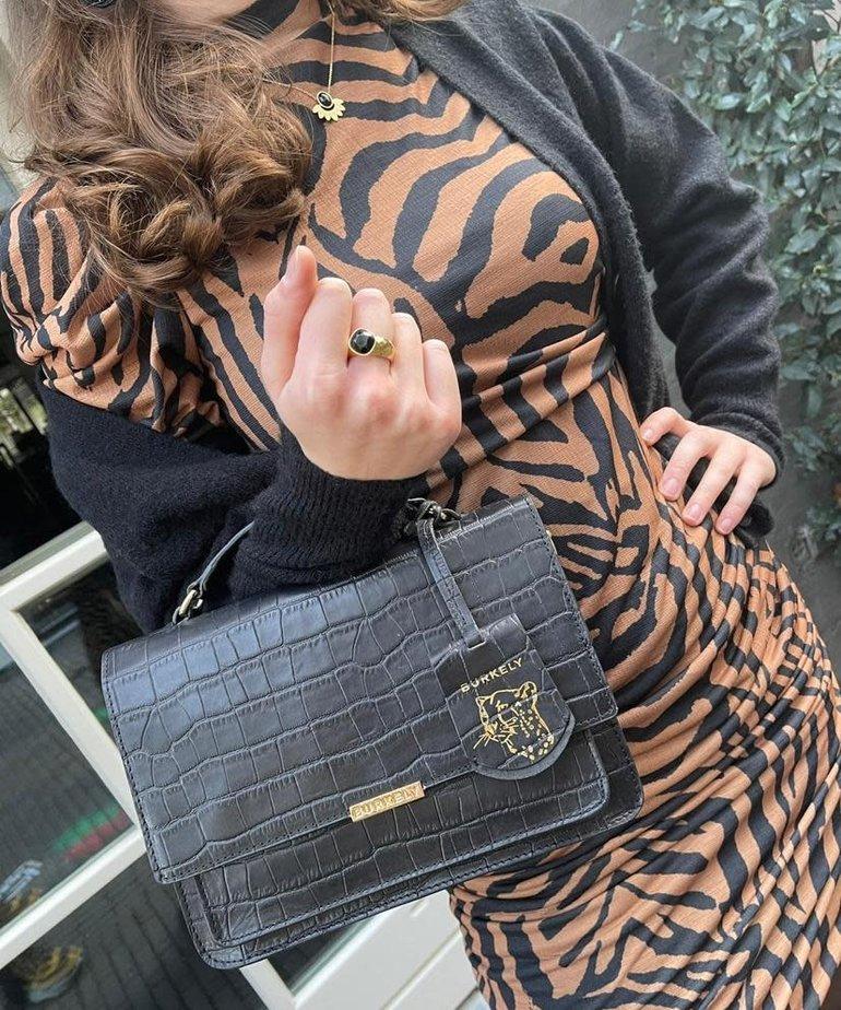 Catwalk Junkie Catwalk Junkie Dress El Tigre Mini, Tobacco Brown