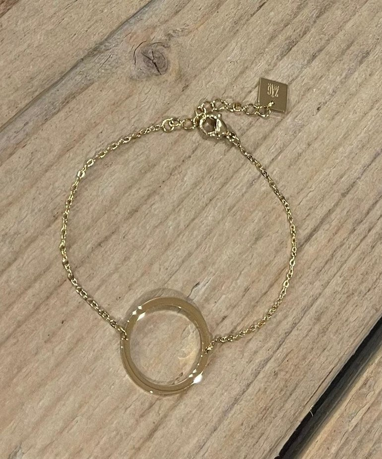 Zag Bijoux Armband Goud  Open Cirkel