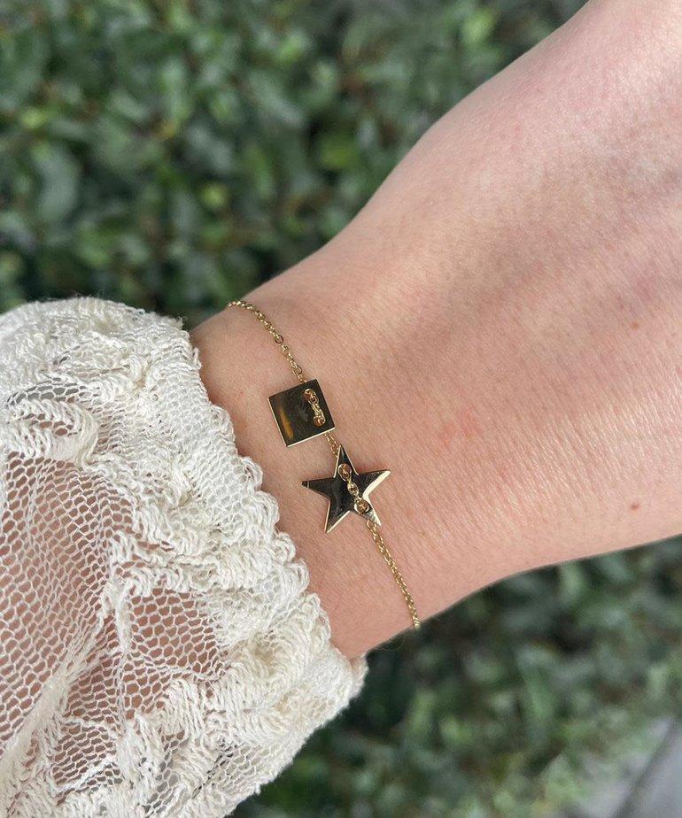 Zag Bijoux Zag Bijoux Armband Gouden Ster