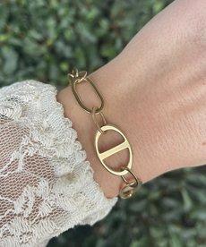 Zag Bijoux Zag Bijoux Armband Schakels Goud Rondom