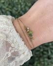 Zag Bijoux Zag Bijoux Armband Goud met Groene Steentjes