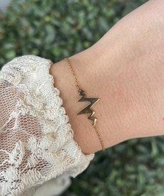 Zag Bijoux Zag Bijoux Armband Goud Hartslag