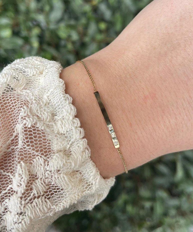 Zag Bijoux Zag Bijoux Armband Gouden Plaatje