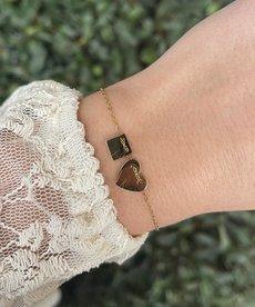 Zag Bijoux Zag Bijoux Armband Goud Hart