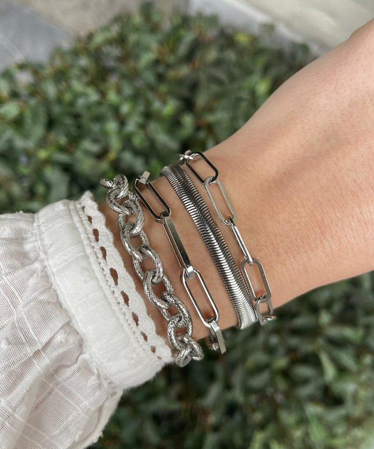 ByJam ByJam Armband Zilver Shiny Snake