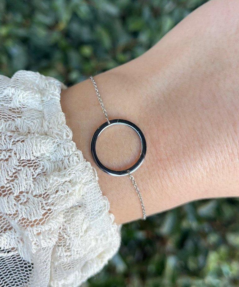 Zag Bijoux Armband Zilver Open Cirkel