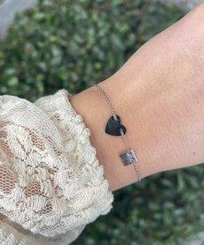 Zag Bijoux Zag Bijoux Armband Zilver Hart