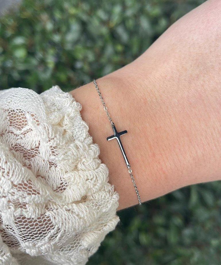 Zag Bijoux Zag Bijoux Armband Zilver Kruis