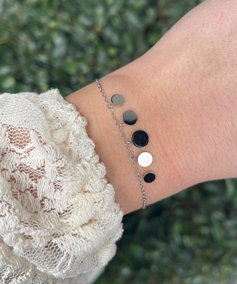 Zag Bijoux Zag Bijoux Armband Zilver Spiegeltjes