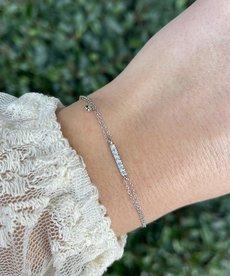 Zag Bijoux Zag Bijoux Armband Zilver Staaf