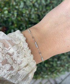 Zag Bijoux Armband Zilver Triple Staaf