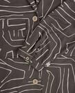 Zusss Zusss, Doorknoopjurk met Safariprint, Grafietgrijs