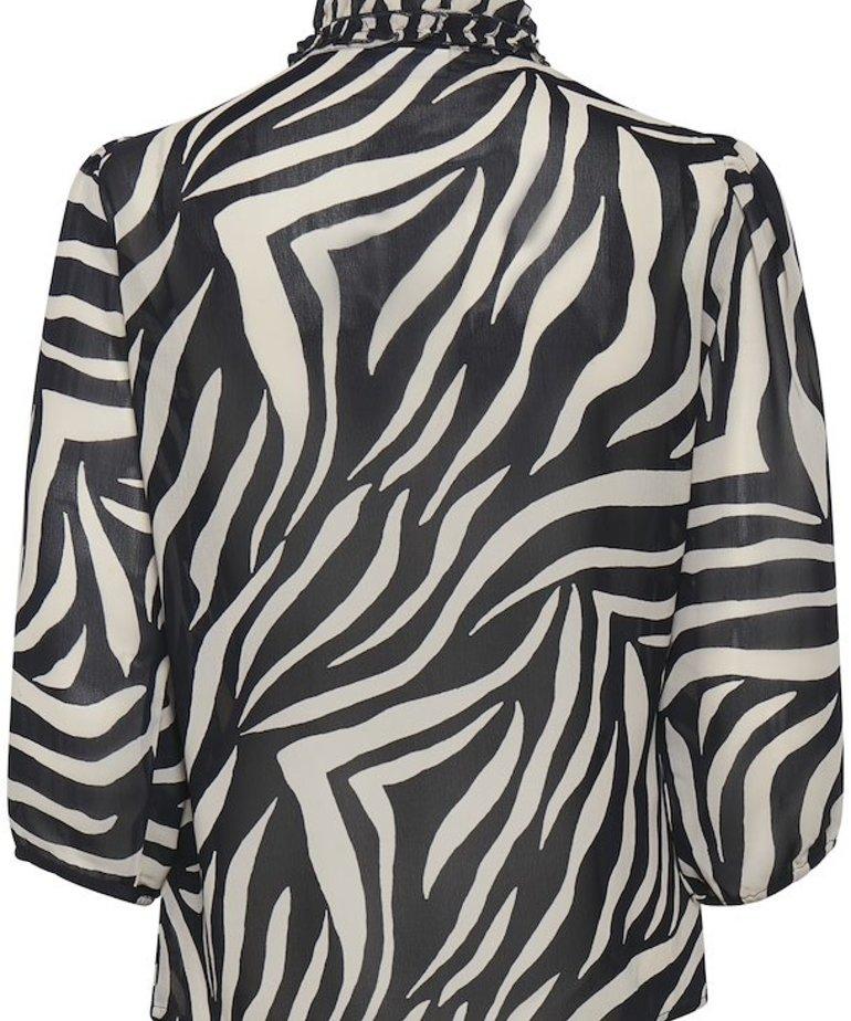 Saint Tropez Saint Tropez, Lilly SZ Shirt - Black Zebra