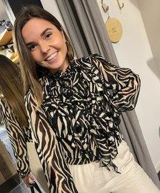 Saint Tropez Lilly SZ Shirt - Black Zebra