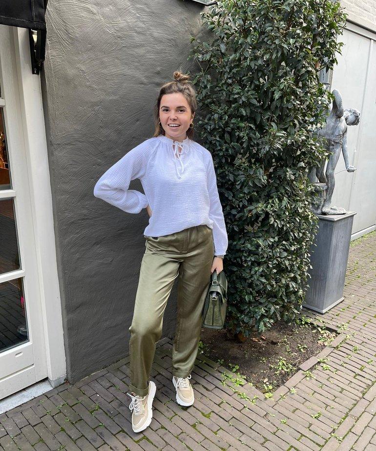 JC Sophie Greta Trousers - Ivy Green