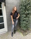 Zusss Zusss Basic T-shirt Hartje Zwart