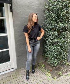 Zusss Basic T-shirt Hartje Zwart
