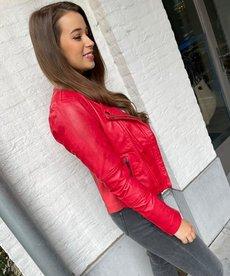AIM Leren Jack - Byonce Red