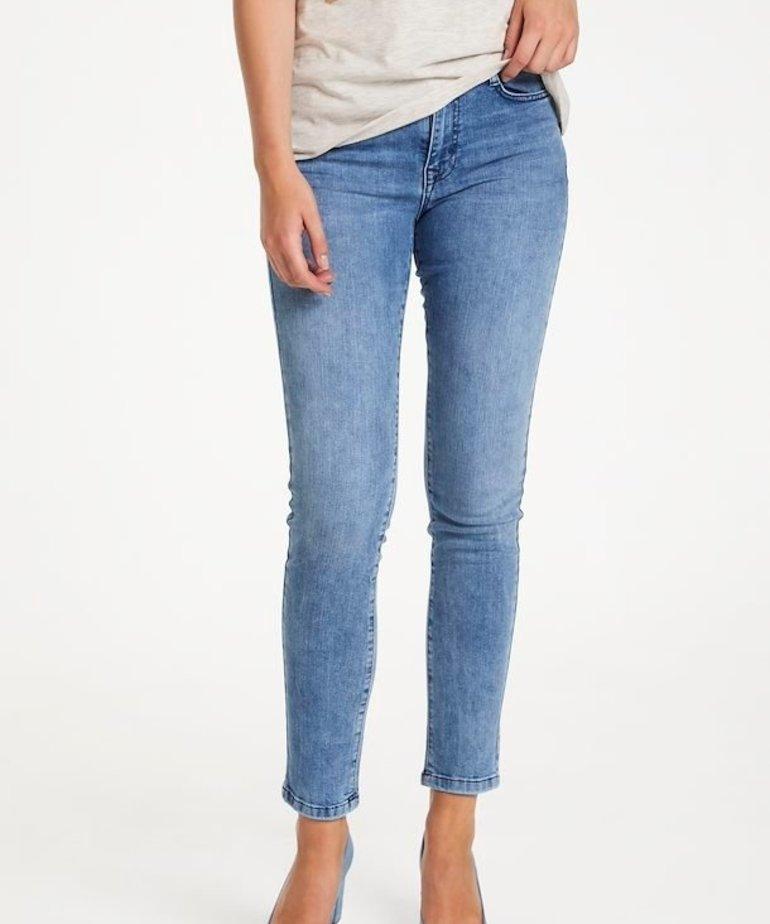 Saint Tropez Saint Tropez Molly Slim Jeans - Light Blue Denim