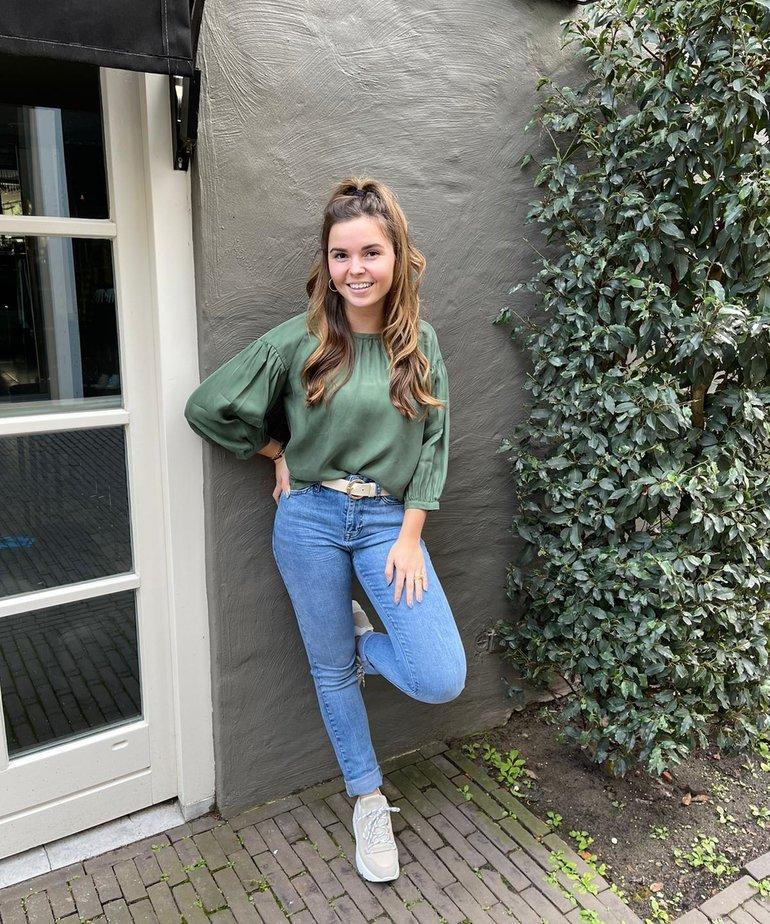 JC Sophie JC Sophie Gabrielle Blouse  - Leaf Green