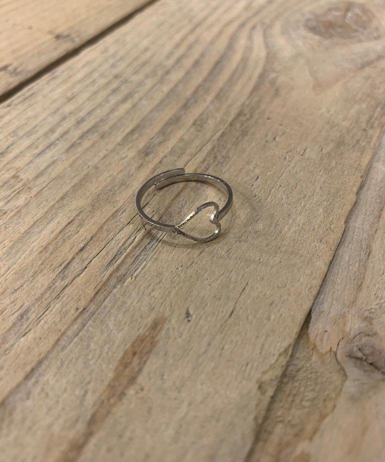 Zusss Zusss Ring Hartje - Zilver