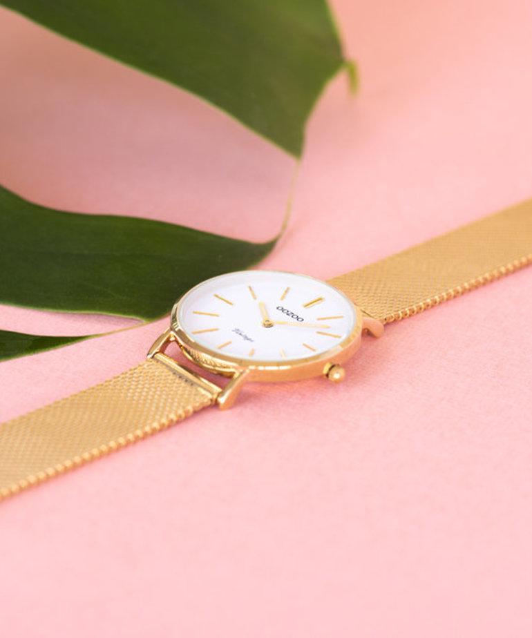 Oozoo Timepieces Oozoo C9911 - Goud Meshband