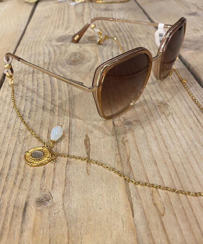 Ikki Ikki Zonnebril koord Sedna, Gold - Grey Amulet