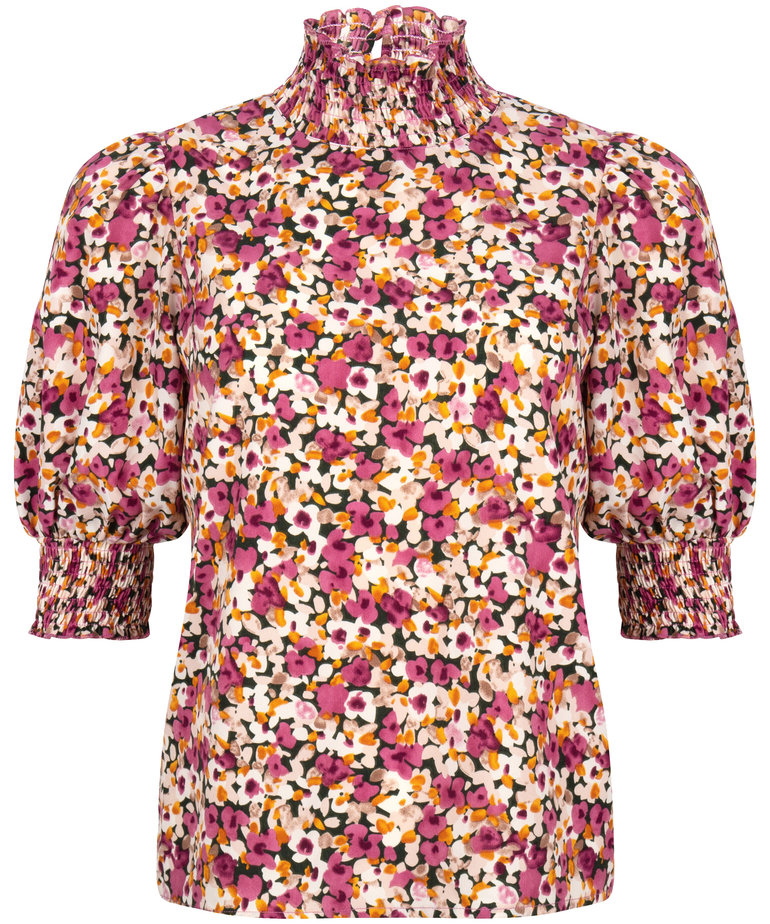 Ydence Ydence Top Camille - Pink Flower