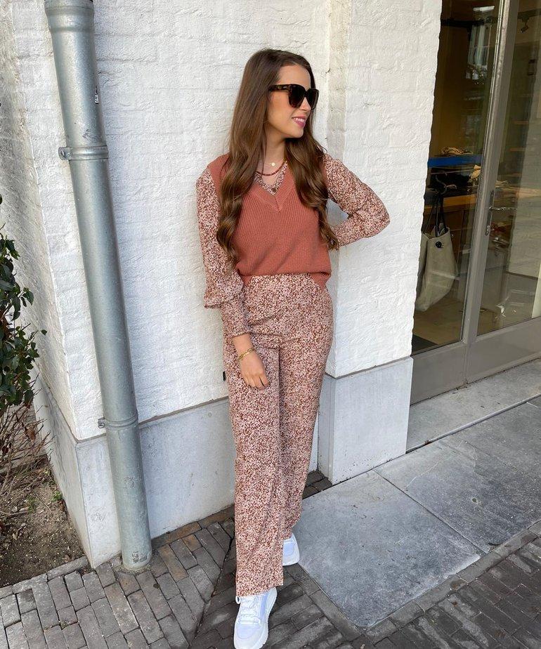 Ydence Ydence Pants Megan - Camel Print