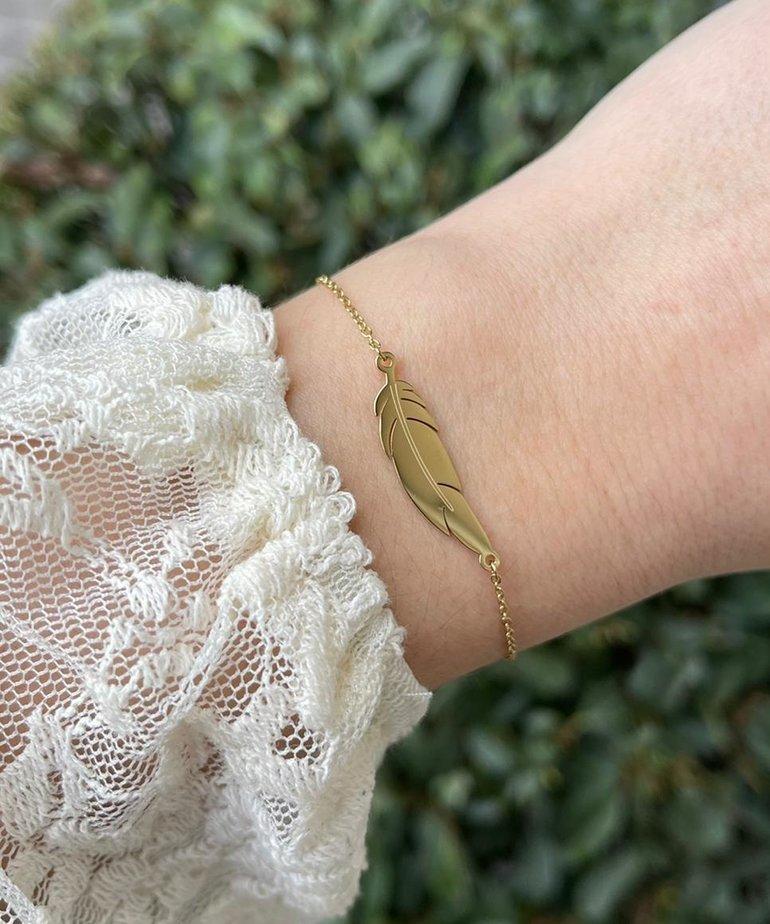 Zag Bijoux Zag Bijoux Armband Goud Veertje
