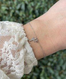 Zag Bijoux Armband Zilver Kruis Diamandjes